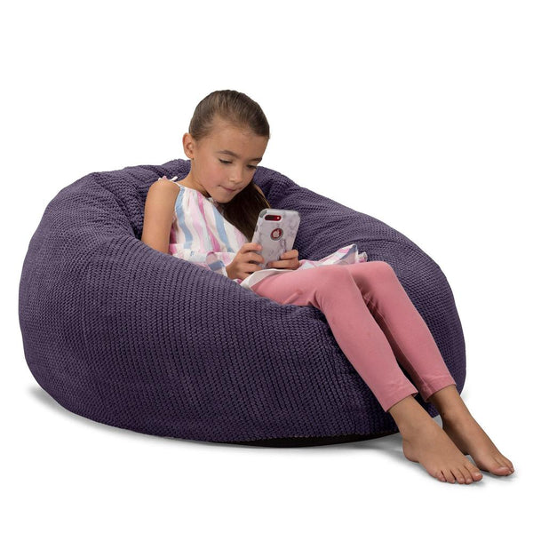 CloudSac-Kids'-Memory-Foam-Giant-Children's-Bean-Bag-Pom-Pom-Purple_1