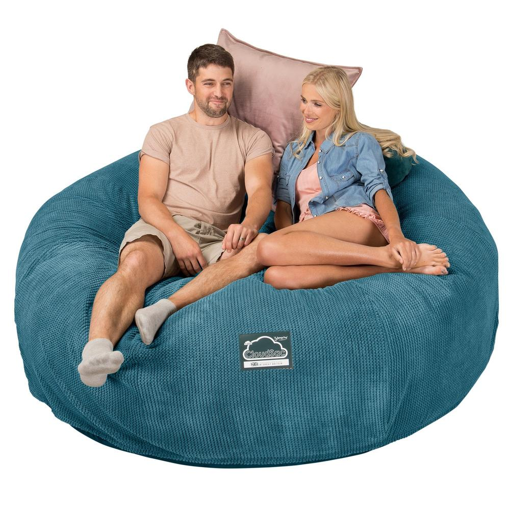 CloudSac-3000-XXL-A-King-Sized-Memory-Foam-Bean-Bag-Sofa-Pom-Pom-Aegean-Blue_4