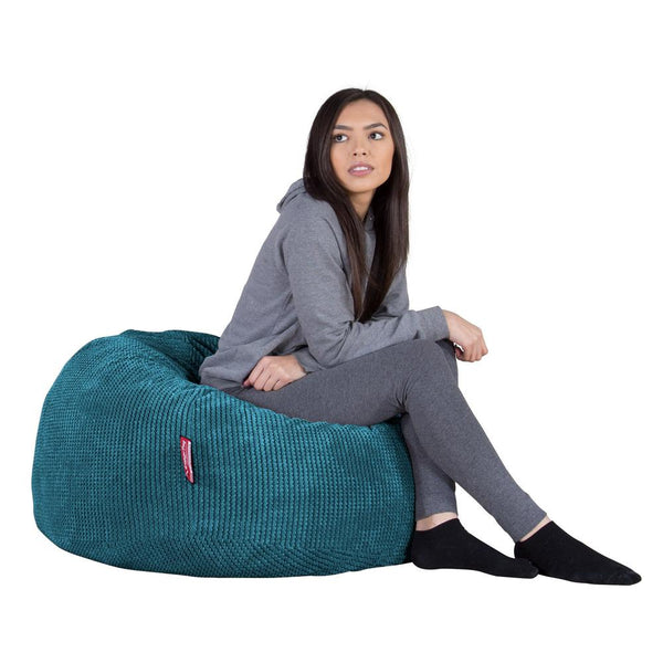"CLOUDSAC-""The-Classic"",-(350-L)-Memory-Foam-Bean-Bag-Pom-Pom-Aegean-Blue_1"