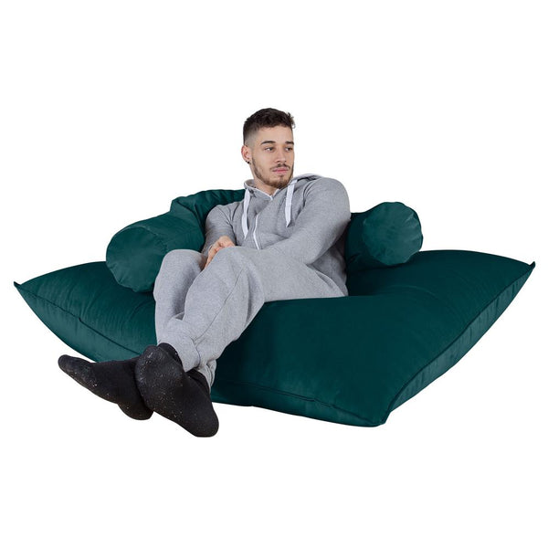 "CLOUDSAC ""The Floor Cushion"" (450-L) Memory Foam Bean Bag - Velvet Teal"