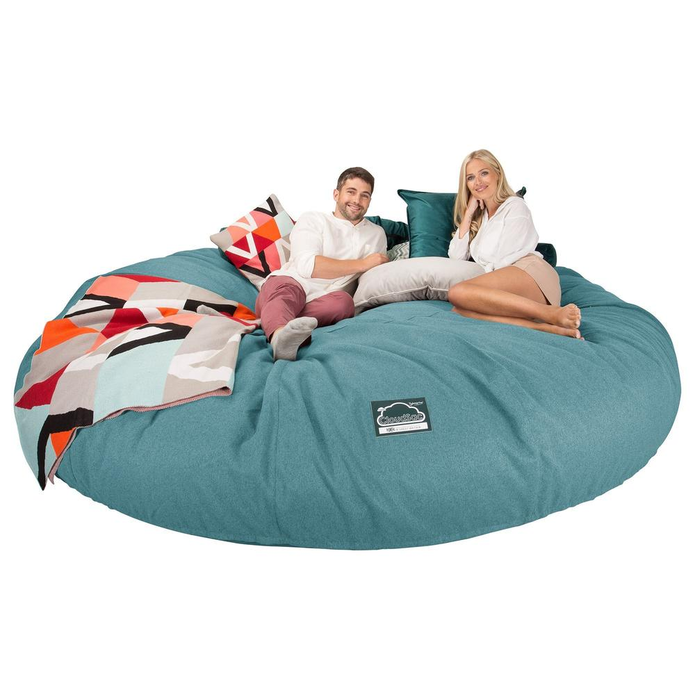 CloudSac-5000-XXXXXL-A-Titanic-Memory-Foam-Bean-Bag-Sofa-Interalli-Wool-Aqua_4