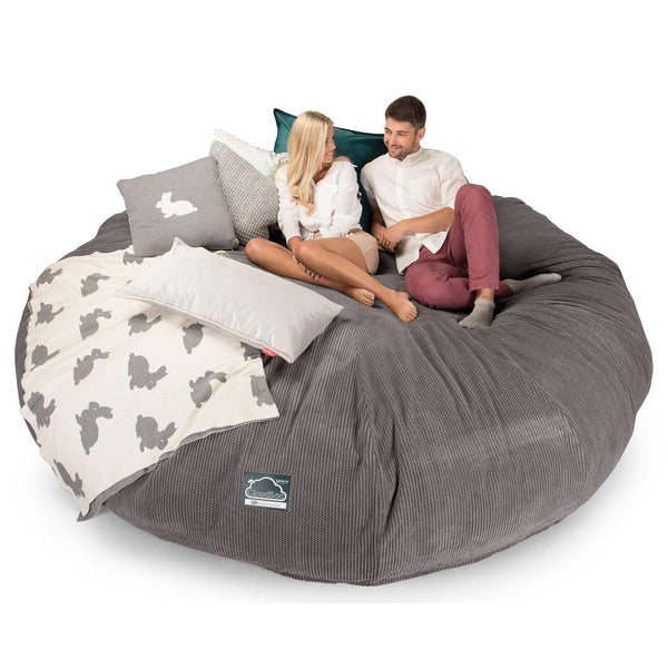 CloudSac-5000-XXXXXL-A-Titanic-Memory-Foam-Bean-Bag-Sofa-Pom-Pom-Charcoal-Grey_1