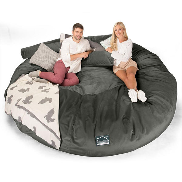 CloudSac-5000-XXXXXL-A-Titanic-Memory-Foam-Bean-Bag-Sofa-Velvet-Graphite-Grey_1