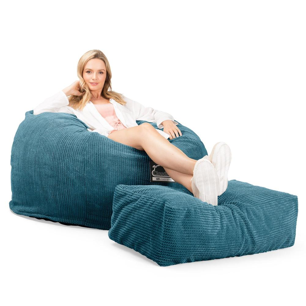 CloudSac-510-XL-X-Large-Memory-Foam-Bean-Bag-Pom-Pom-Aegean-Blue_1