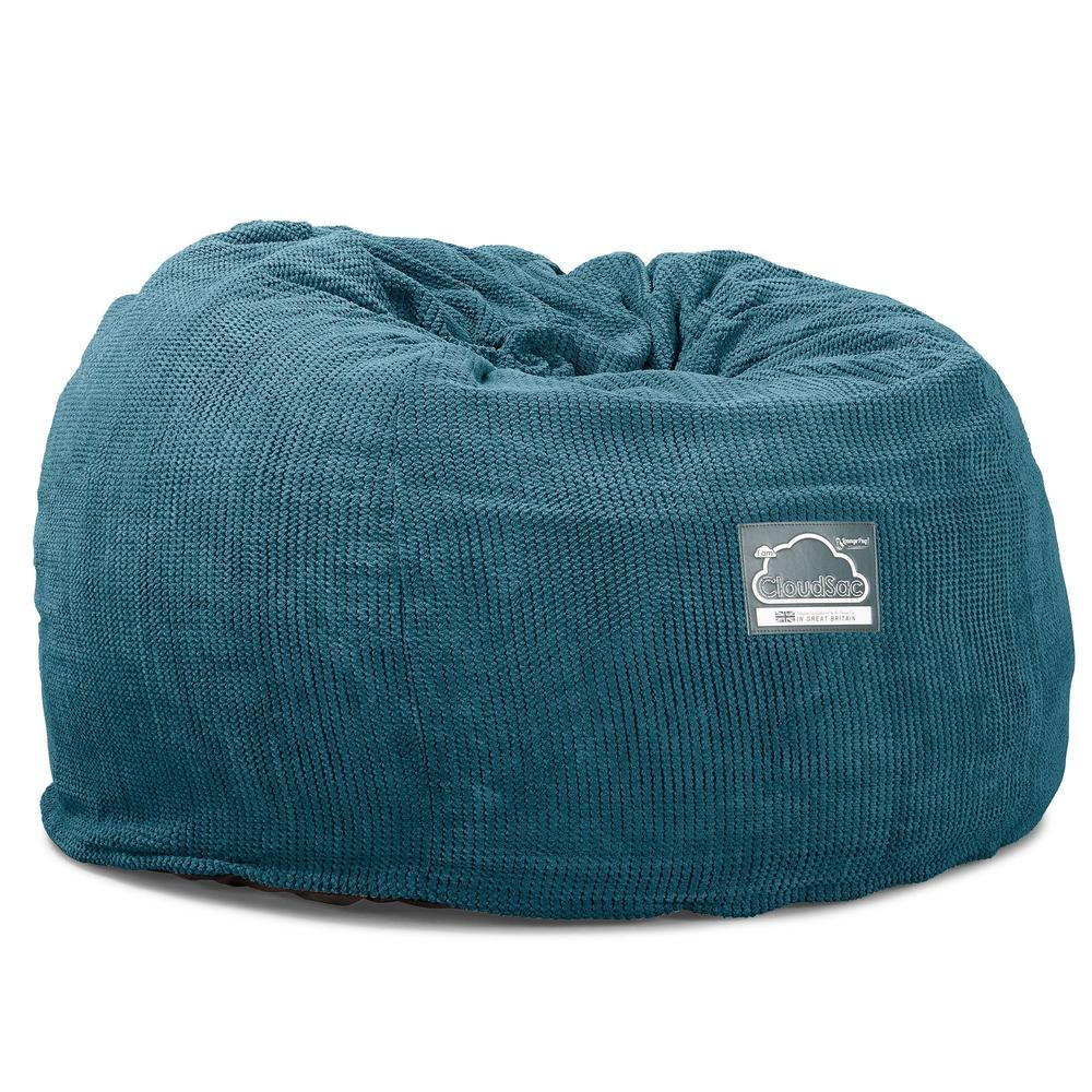 CloudSac-510-XL-X-Large-Memory-Foam-Bean-Bag-Pom-Pom-Aegean-Blue_6