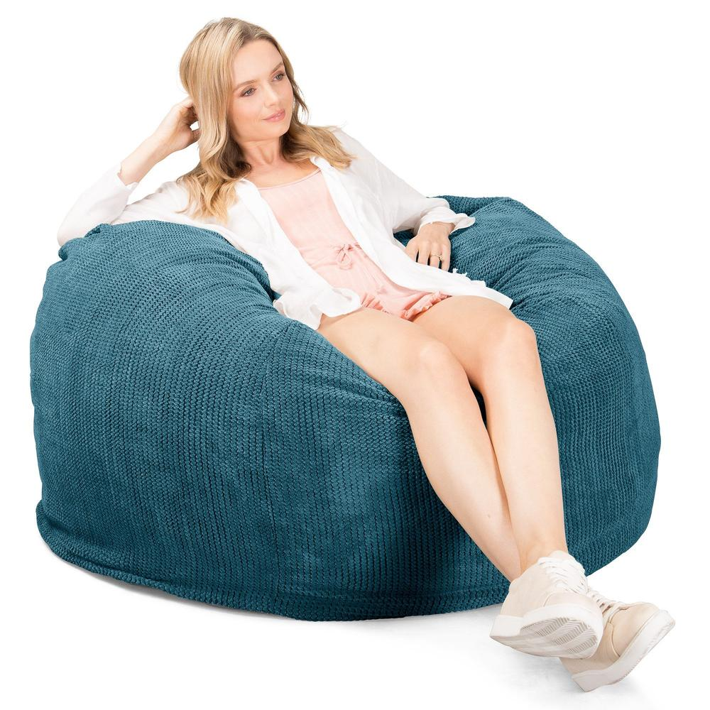 CloudSac-510-XL-X-Large-Memory-Foam-Bean-Bag-Pom-Pom-Aegean-Blue_3