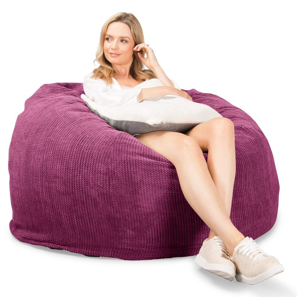 CloudSac-510-XL-X-Large-Memory-Foam-Bean-Bag-Pom-Pom-Pink_4