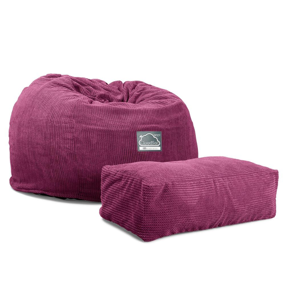CloudSac-510-XL-X-Large-Memory-Foam-Bean-Bag-Pom-Pom-Pink_5