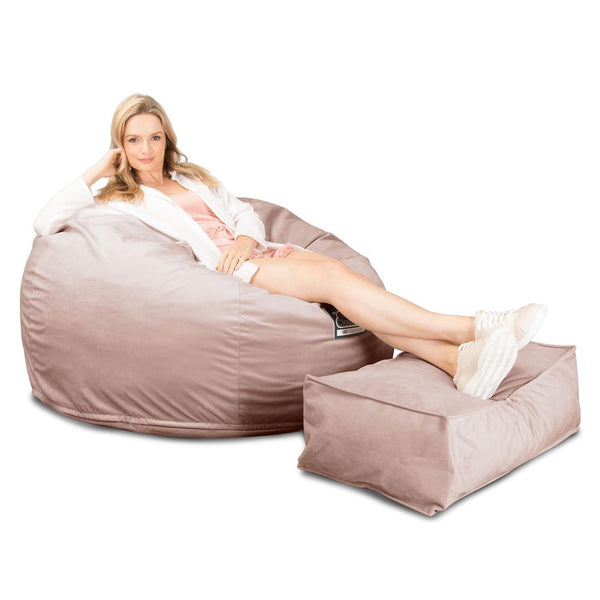 CloudSac-510-XL-X-Large-Memory-Foam-Bean-Bag-Velvet-Rose-Pink_1
