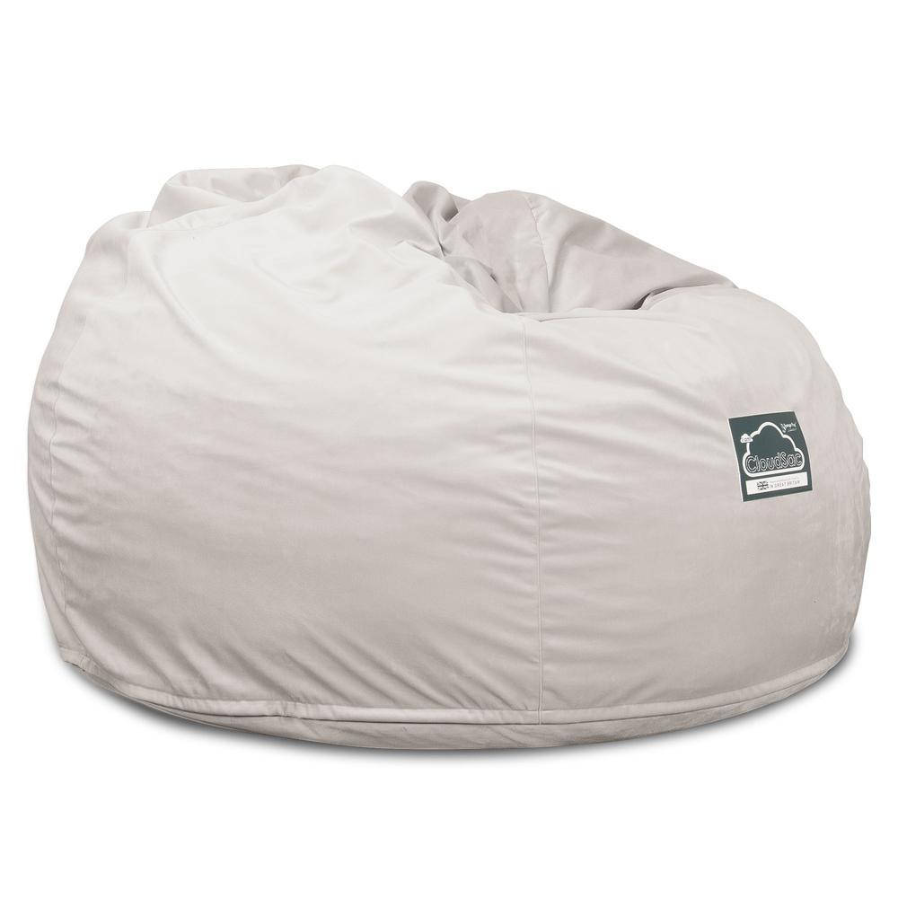 CloudSac-510-XL-X-Large-Memory-Foam-Bean-Bag-Velvet-Silver_5