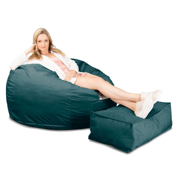 CloudSac-510-XL-X-Large-Memory-Foam-Bean-Bag-Velvet-Teal_1