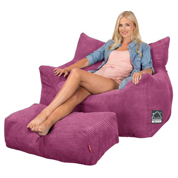 CloudSac-800-Memory-Foam-Bean-Bag-Armchair-Pom-Pom-Pink_1