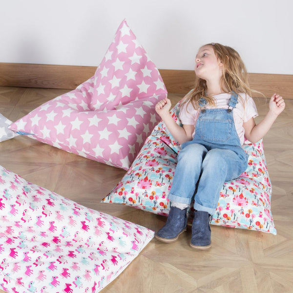 Children's-Pod-Bean-Bag-Print-Pink-Star_2