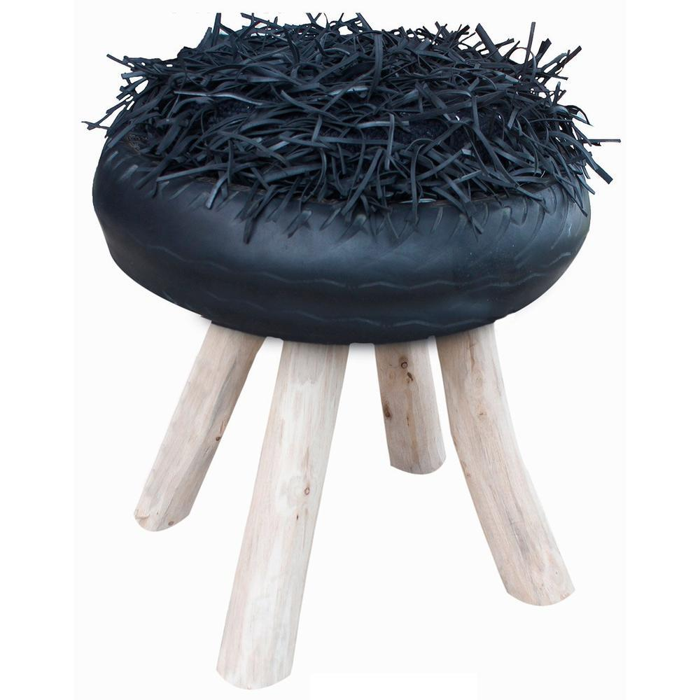 Shaggy-Oriental-Footstool-Grey_1