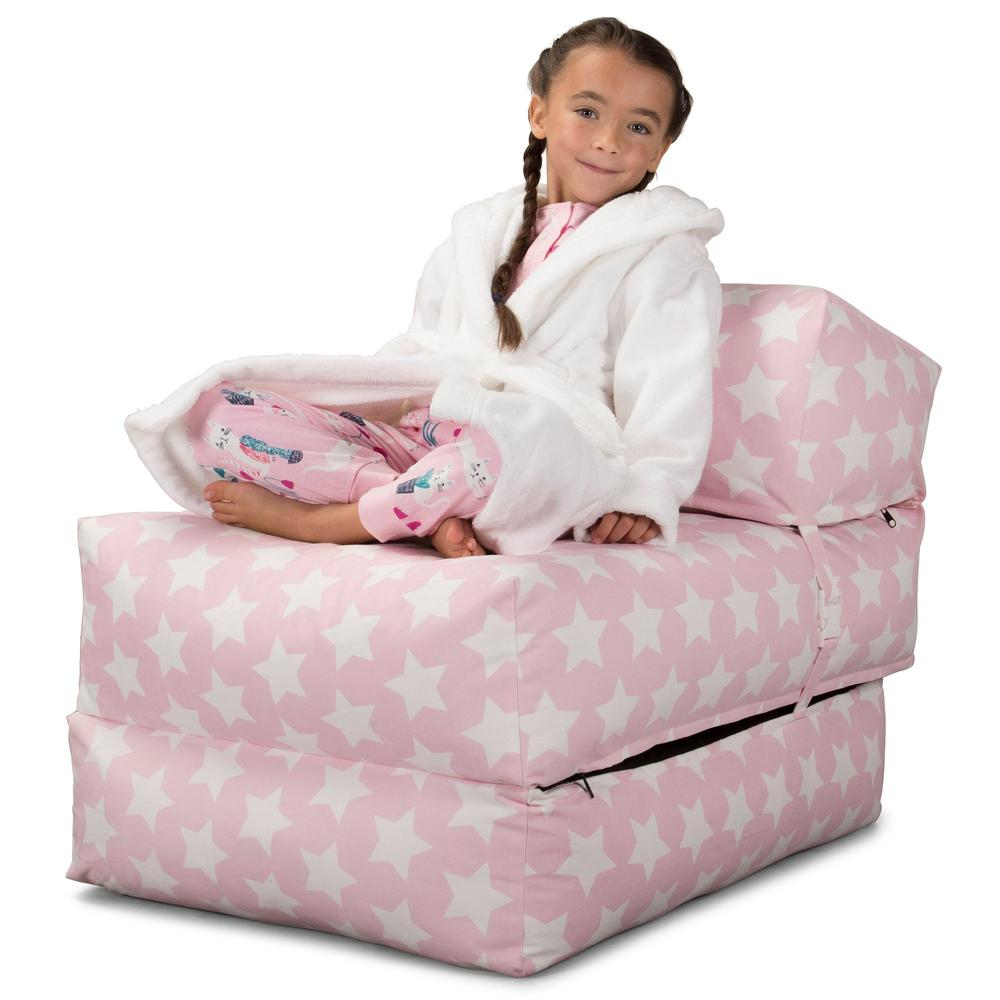 Avery-Futon-Chair-Bed-Single-Print-Pink-Star_3