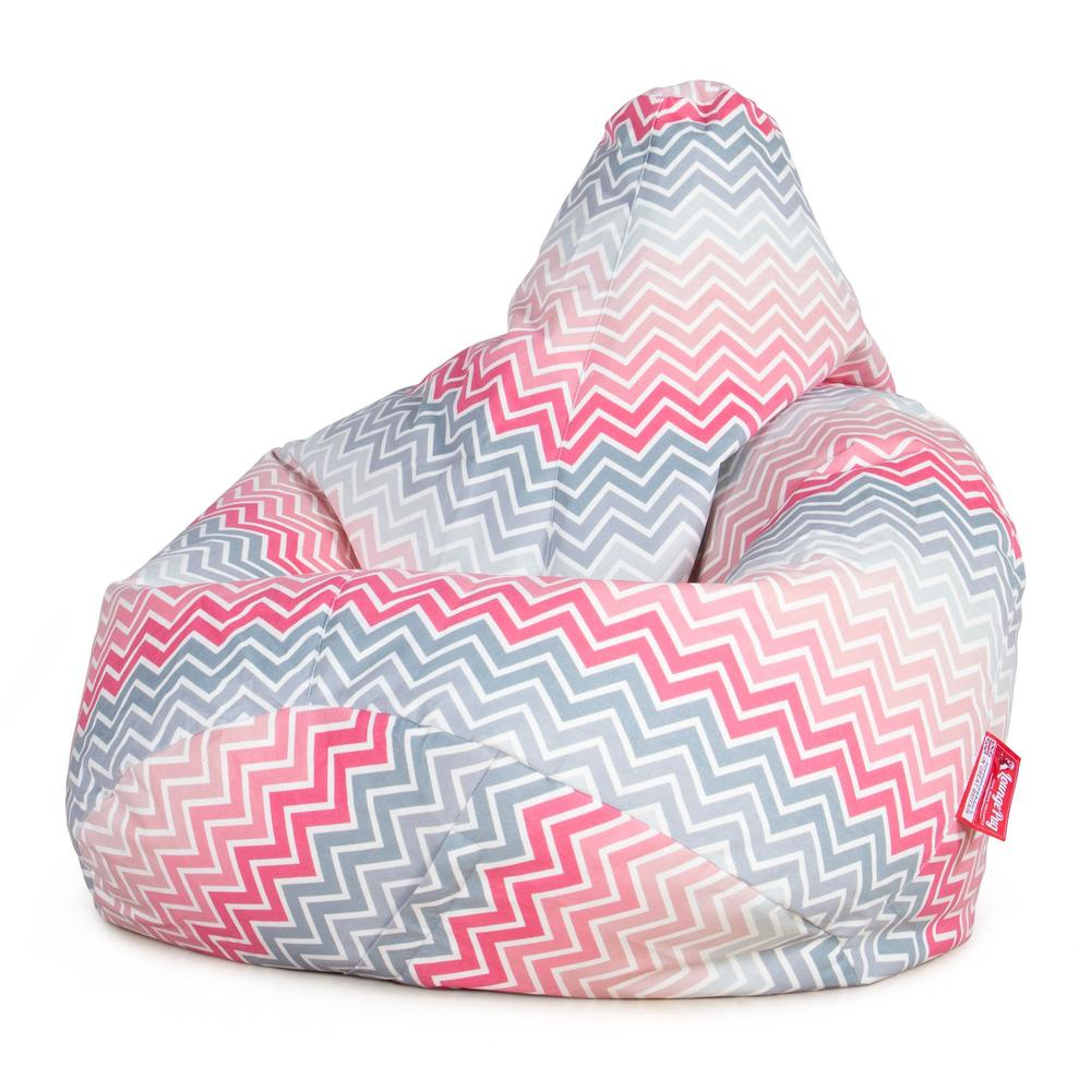Highback-Bean-Bag-Chair-Geo-Print-Chevron-Pink_5