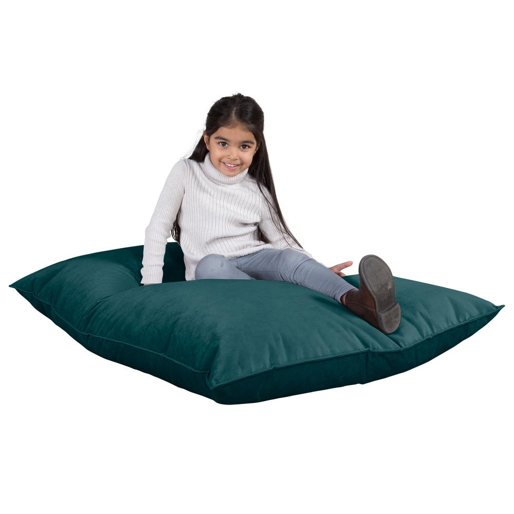 Junior-Children's-Bean-Bag-Velvet-Teal_1