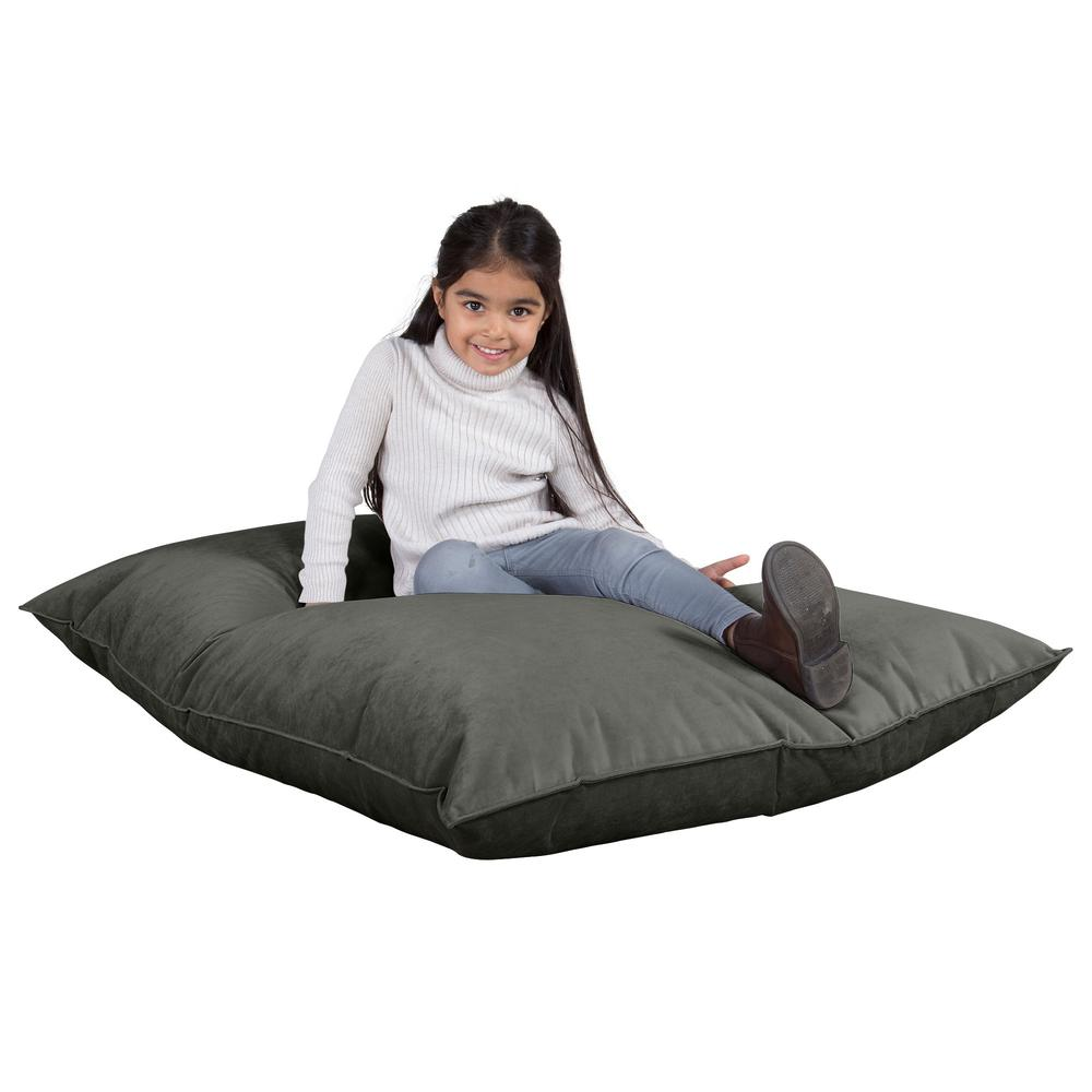 Junior-Children's-Bean-Bag-Velvet-Graphite-Grey_1