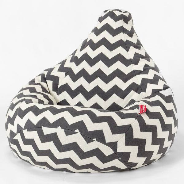 100% Luxury Knitted Cotton Highback Bean Bag - Aztec