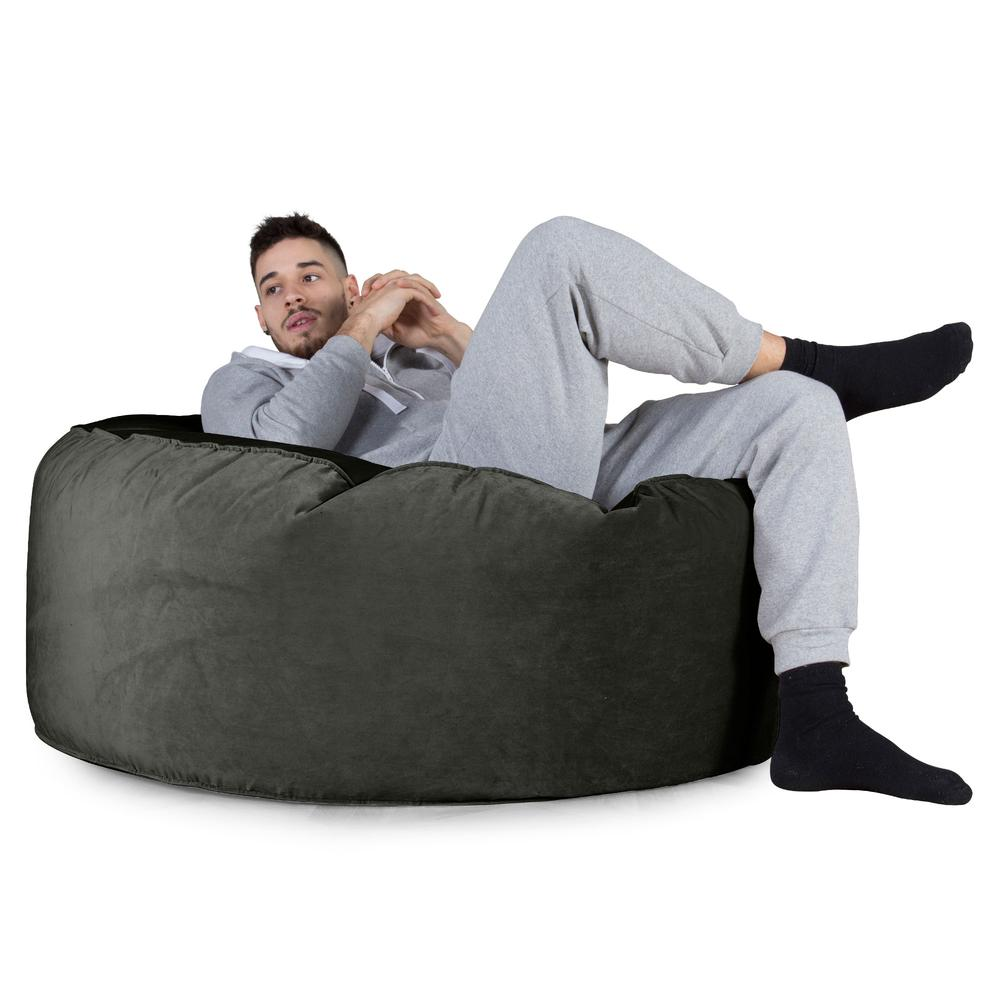 Mammoth-Bean-Bag-Sofa-Velvet-Graphite-Grey_4