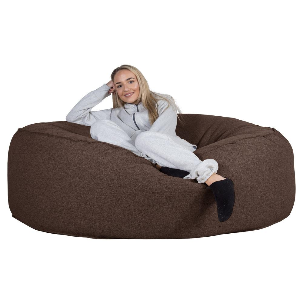 Mega-Mammoth-Bean-Bag-Sofa-Interalli-Wool-Brown_4