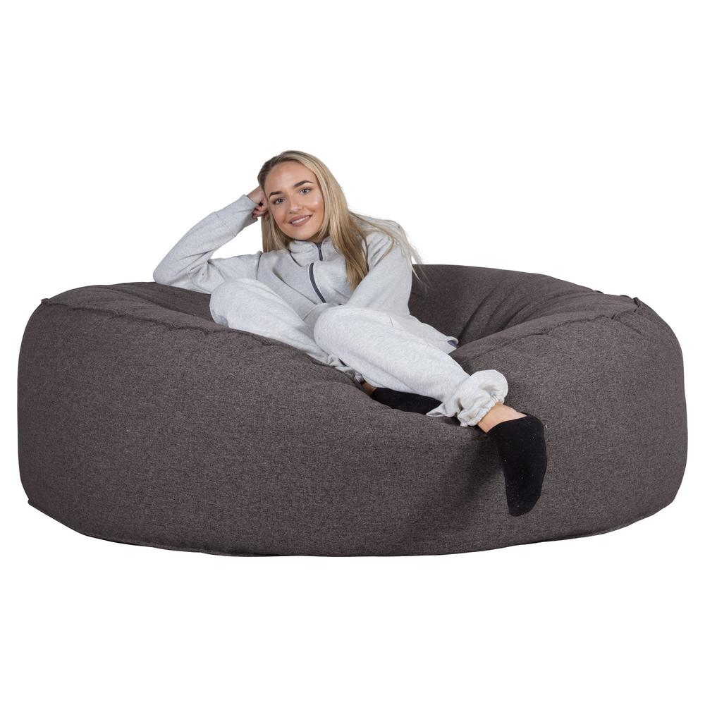 Mega-Mammoth-Bean-Bag-Sofa-Interalli-Wool-Grey_4