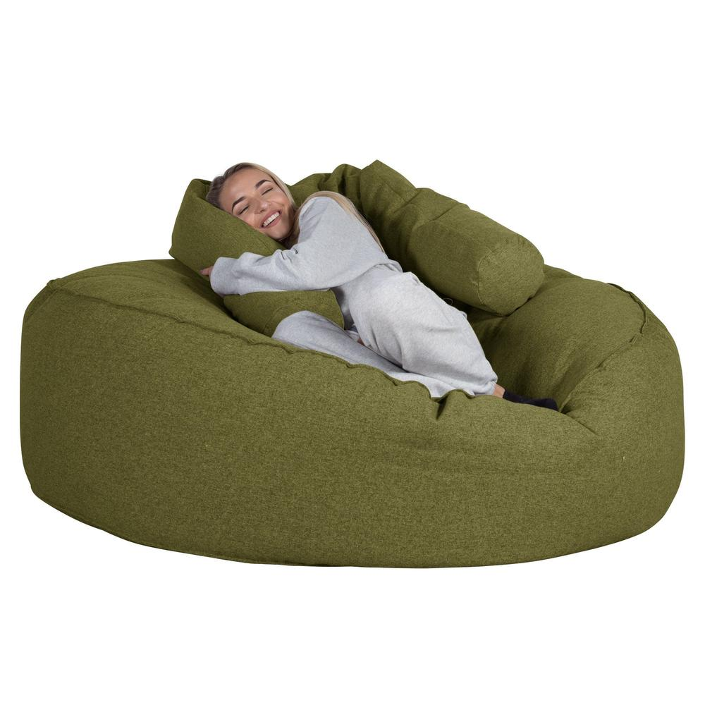 Mega-Mammoth-Bean-Bag-Sofa-Interalli-Wool-Lime-Green_3