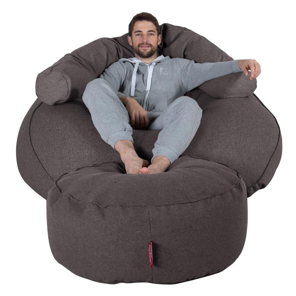 Mega-Mammoth-Bean-Bag-Sofa-Interalli-Wool-Grey_5