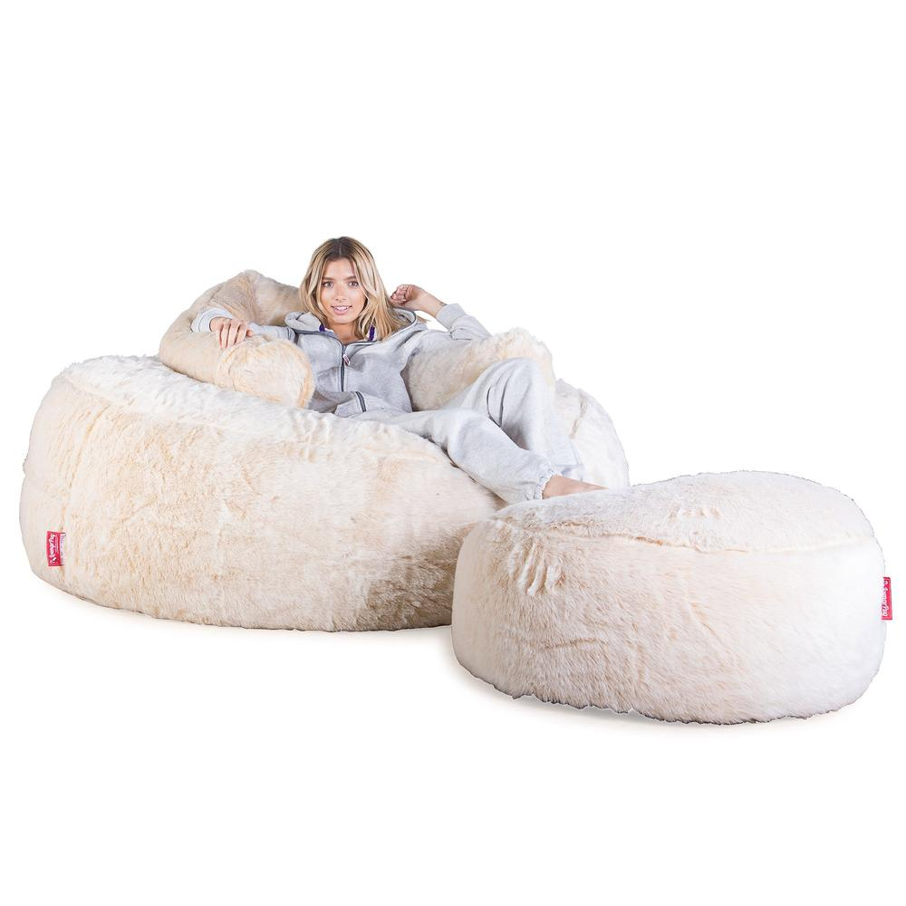 Mega-Mammoth-Bean-Bag-Sofa-Fluffy-Faux-Fur-White-Fox_3