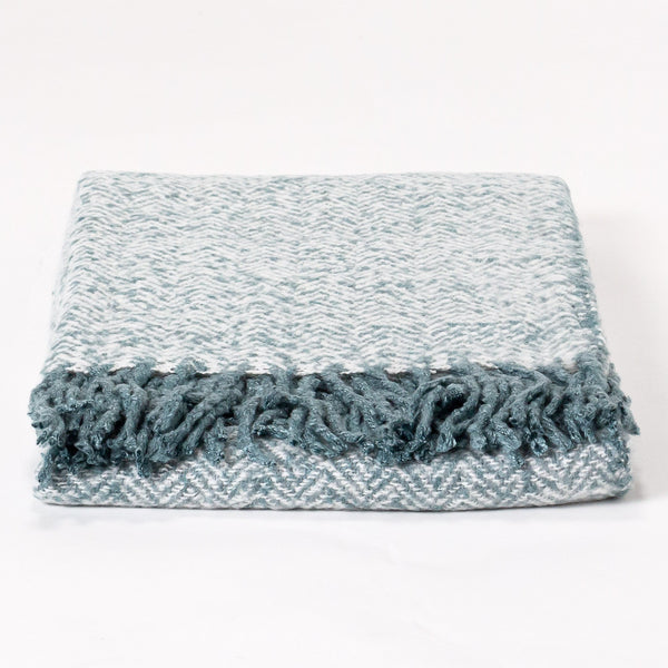 Faux-Mohair-Throw-Blanket- Herringbone-Ink-Blue_1