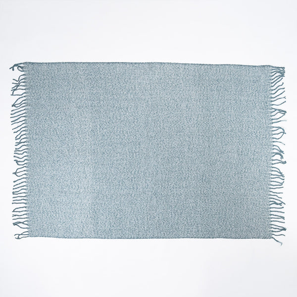 Faux-Mohair-Throw-Blanket- Herringbone-Ink-Blue_2