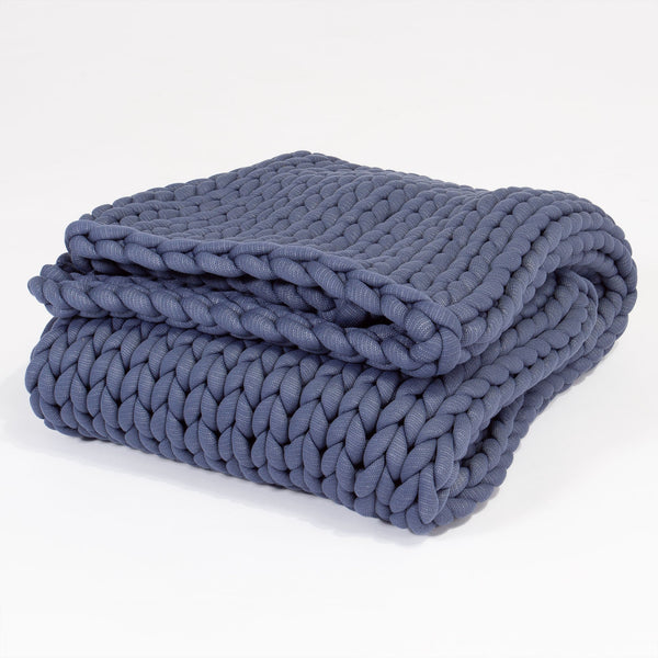 weighted-blanket-chunky-knit-dark-blue_1