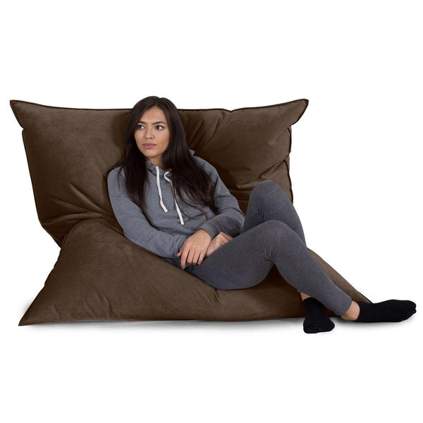 Extra Large Bean Bag - Velvet Espresso