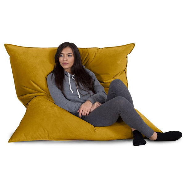 Extra Large Bean Bag - Velvet Gold