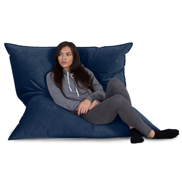 Extra Large Bean Bag - Velvet Midnight Blue