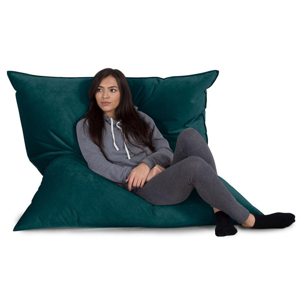 Extra Large Bean Bag - Velvet Teal