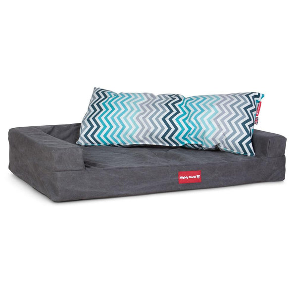 The-Bailey-Giant-Memory-Foam-Pillow-For-On-Dog-Beds-Geo-Print-Chevron-Teal_2