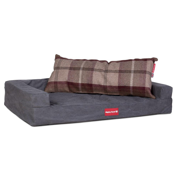 The-Bailey-Giant-Memory-Foam-Pillow-For-On-Dog-Beds-Tartan-Mulberry_2