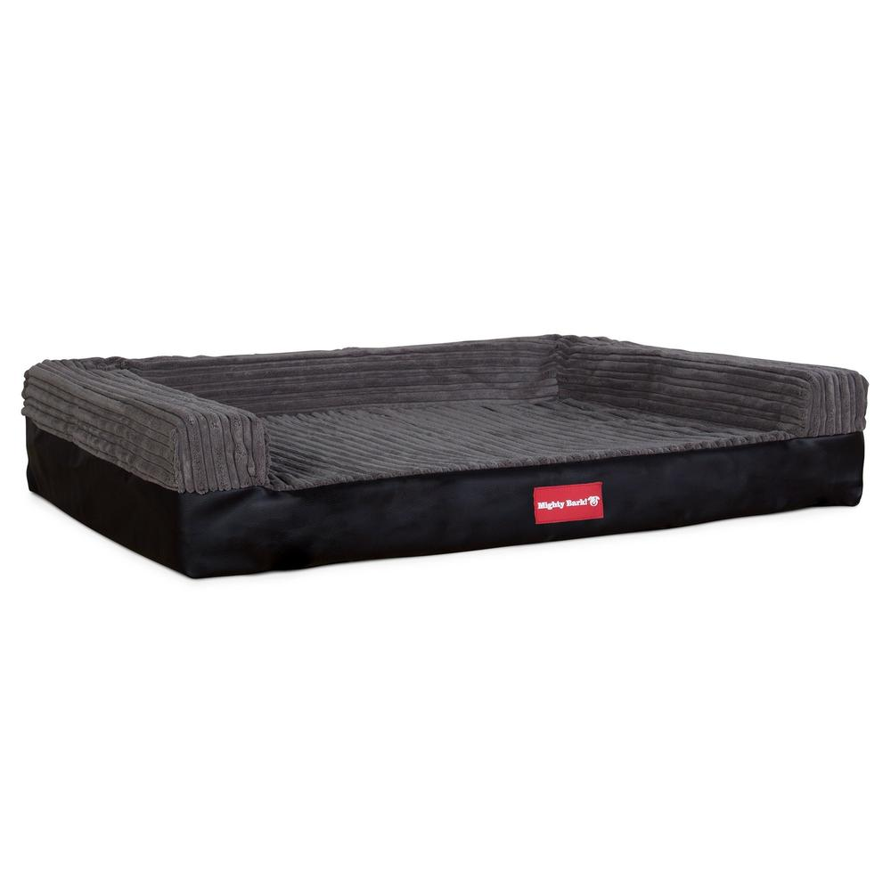 The-Bench-Orthopedic-Memory-Foam-Dog-Bed-Faux-Leather-Black_1