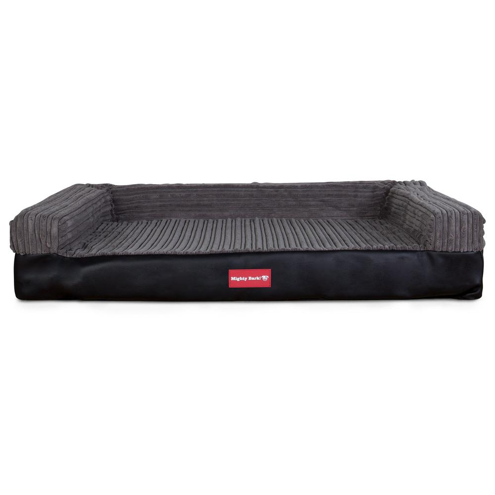 The-Bench-Orthopedic-Memory-Foam-Dog-Bed-Faux-Leather-Black_4