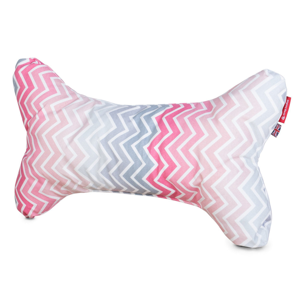 The-Bone-Bone-Shaped-Pillow-For-On-Dog-Beds-Geo-Print-Chevron-Pink_6