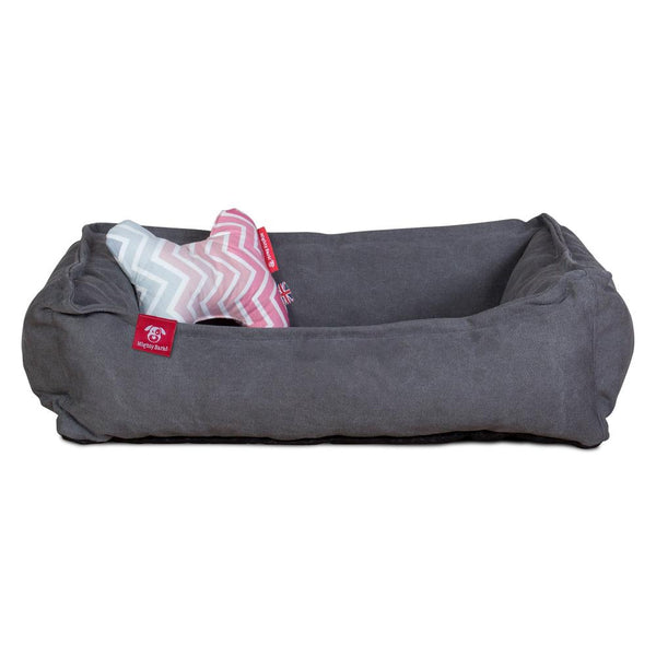 The-Bone-Bone-Shaped-Pillow-For-On-Dog-Beds-Geo-Print-Chevron-Pink_2