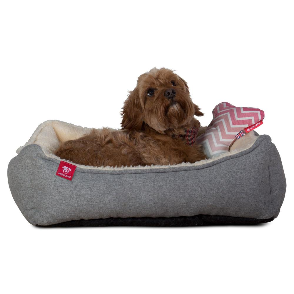The-Bone-Bone-Shaped-Pillow-For-On-Dog-Beds-Geo-Print-Chevron-Pink_3