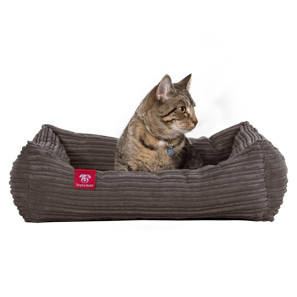 The-Cat-Bed-Memory-Foam-Cat-Bed-Cord-Graphite-Grey_1