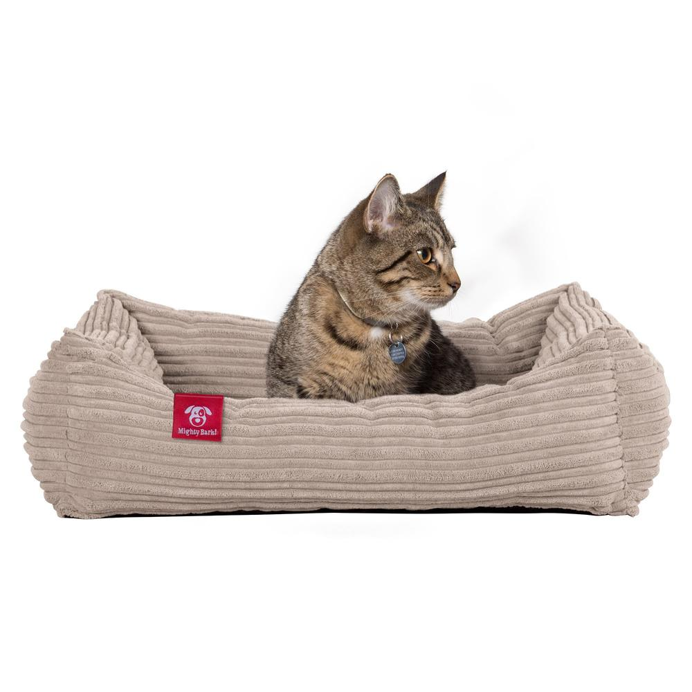 The-Cat-Bed-Memory-Foam-Cat-Bed-Cord-Mink_1