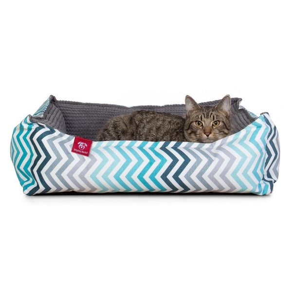 The-Cat-Bed-Memory-Foam-Cat-Bed-Geo-Print-Chevron-Teal_1