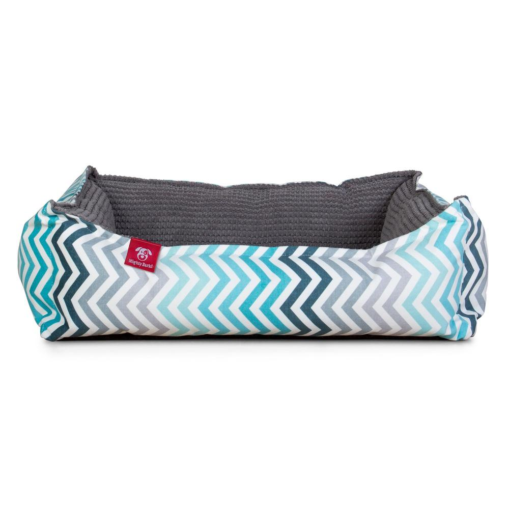 The-Cat-Bed-Memory-Foam-Cat-Bed-Geo-Print-Chevron-Teal_3