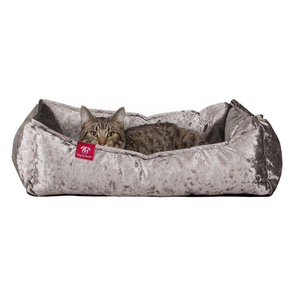 The-Cat-Bed-Memory-Foam-Cat-Bed-Glitz-Silver_1