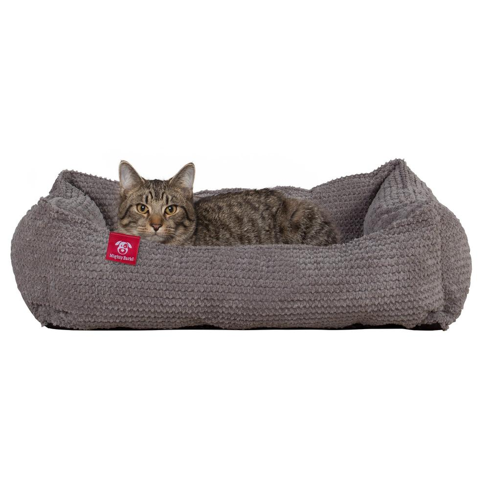 The-Cat-Bed-Memory-Foam-Cat-Bed-Pom-Pom-Charcoal-Grey_1