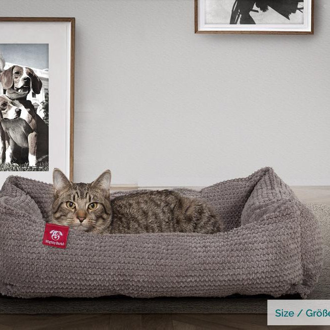 The-Cat-Bed-Memory-Foam-Cat-Bed-Pom-Pom-Charcoal-Grey_2
